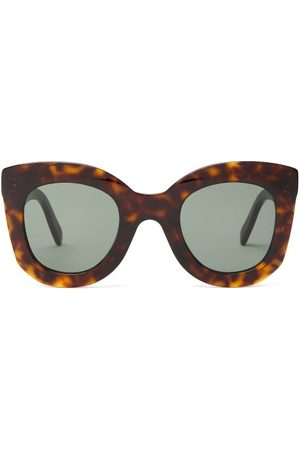 Céline Oversized Round Tortoise-effect Acetate Sunglasses - Womens