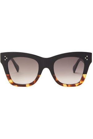 Céline Women Sunglasses - Square Tortoiseshell-gradient Acetate Sunglasses - Womens