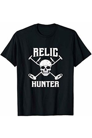 Treasure Hunter And Gold Prospecting Supply Relic Hunter - Vintage Distressed Metal Detector Gold Hunter T-Shirt