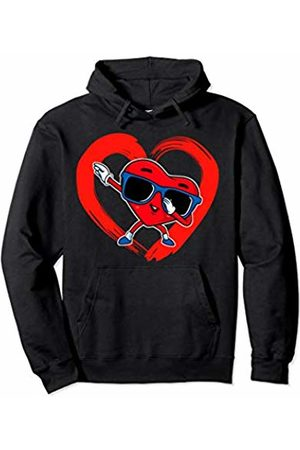 Lil Cupids Valentines Day Gift Store Valentines Day Boys Valentine Boy Dab Love Dabbing Heart Pullover Hoodie