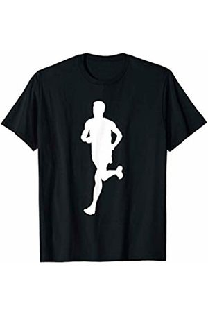 Family Men Women Kids Marathon Team Gifts Idea Silhouette Marathon Runner Track And Field Racer Fitness Run T-Shirt
