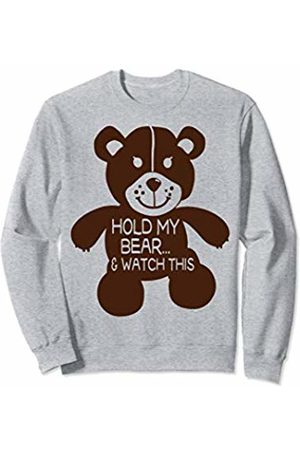 Children Pun Shirts & Gifts Hold My Bear and Watch This Funny Teddy Bear Pun - Cute Boy Sweatshirt
