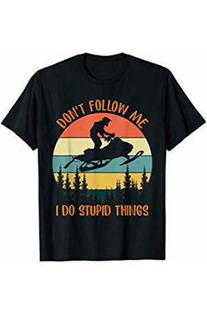 Trendy Creations Gifts Don't Follow Me I Do Stupid Thing Snowmobile Motor Sled Gift T-Shirt