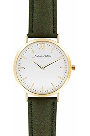 Andreas Osten Unisex-Adult Analogue Classic Quartz Watch with Leather Strap AO-112