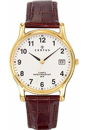 Certus Men's Watch 611235 Dial Analogue Display and Leather