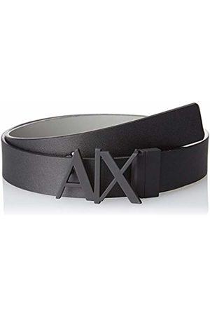 Armani Men's Skinny Leather Logo Belt, ( /Monmist- /Monmist 61120)