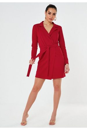 Missguided Basic Jersey Belted Blazer Dress