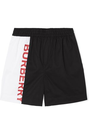 Burberry Cotton Two-Tone Logo Shorts