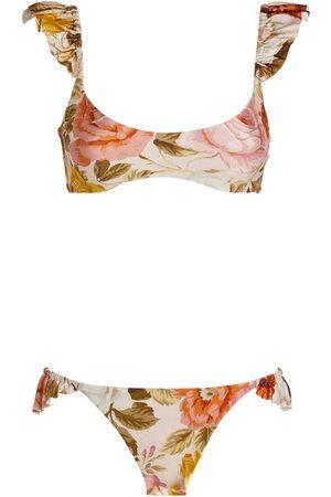 ZIMMERMANN Bonita Frill Shoulder Bikini