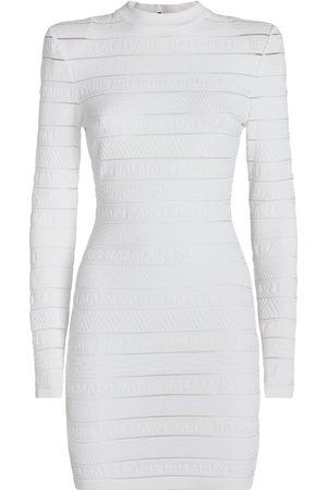 Balmain Women Bodycon Dresses - Logo Stripe Dress