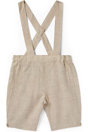Tartine Et Chocolat Boys Braces - Linen Shorts with Braces