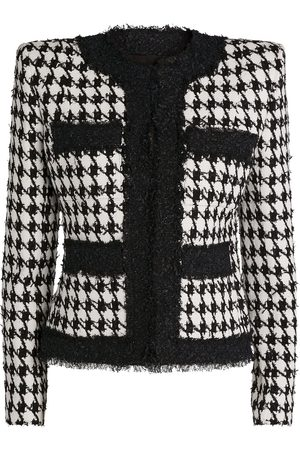 Balmain Women Blazers - Houndstooth Tweed Jacket