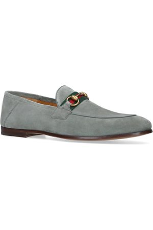 Gucci Suede Brixton Web Loafers