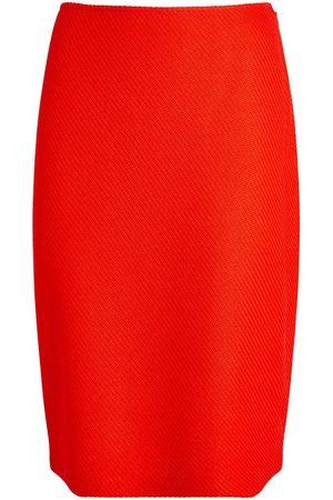 ST. JOHN Twill Pencil Skirt