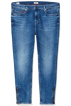 Tommy Hilfiger Women's Nora MID Rise SKNY ANKL Zip MNM Straight Jeans