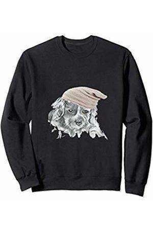 Claire Louise Puppy Beanie Hat Cute Dog Illustration Sweatshirt