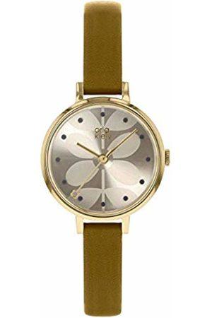 Orla Kiely Unisex Adult Analogue Classic Quartz Watch with Leather Strap OK2256