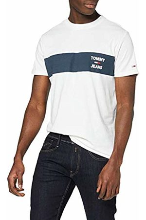 Tommy Hilfiger Men's TJM Chest Stripe Logo TEE Sport Shirt, ( Ybr)