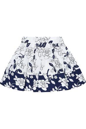 MONNALISA Floral cotton A-line skirt