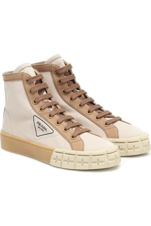 Prada Wheel high-top canvas sneakers