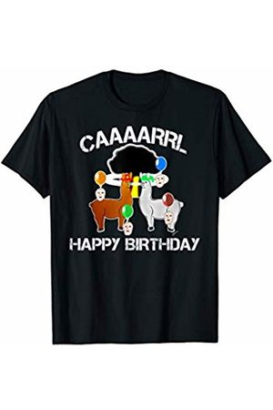llama shirt collection by Jean Olivier Funny llama with hats lama with hat carl funny birthday T-Shirt