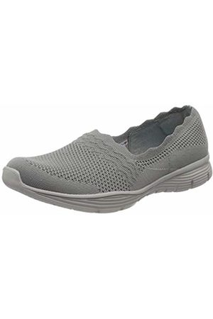 Skechers Women's Seager Trainers, ( Flat Knit Gry)