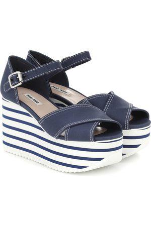 Miu Miu Cotton platform sandals