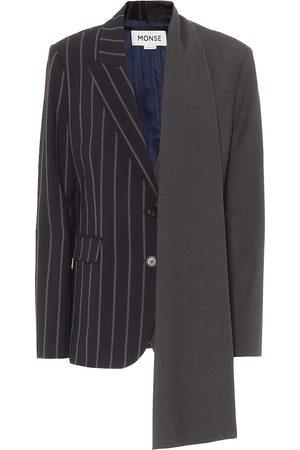 MONSE Women Blazers - Asymmetric stretch-wool blazer