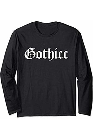 iRockstar Design Gothicc Thicc Emo Goth Aesthetic For Thick Women Funny Meme Long Sleeve T-Shirt