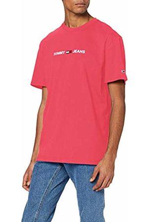 Tommy Jeans Men's TJM Straight Small Logo TEE Sport Shirt