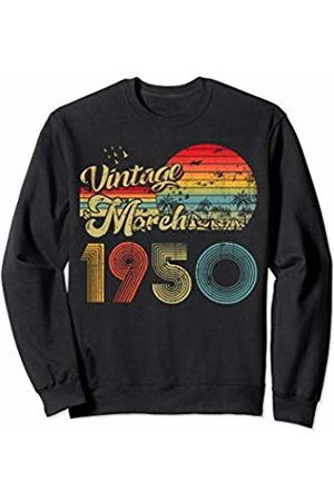 Classic Birthday Gift Retro 90' Designs Classic 70th birthday gift Mens Womens Vintage March 1950 Sweatshirt