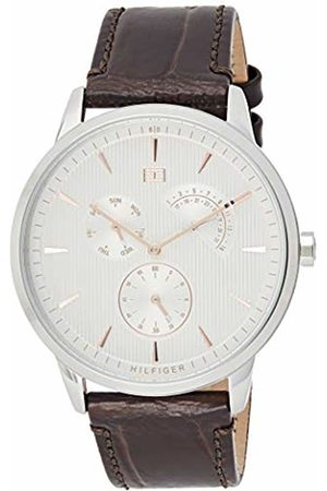 Tommy Hilfiger Mens Multi dial Quartz Watch with Leather Strap 1710389