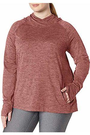 Amazon Plus Size Brushed Tech Stretch Popover Hood Sweatshirt