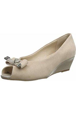 Van Dal Women's Appledore Peep-Toe Wedge, (Sesame 830)
