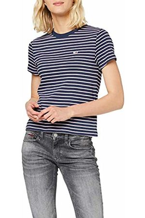 Tommy Hilfiger Women's TJW Essential Stripe TEE Sports Knitwear