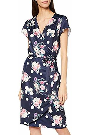Yumi Women's Spot and Floral Wrap Dress Casual