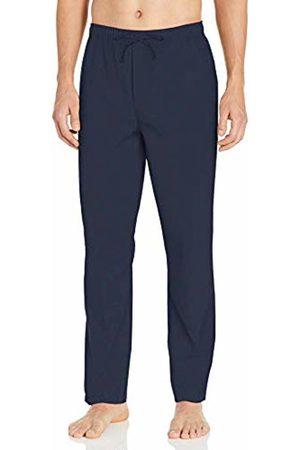 Goodthreads Stretch Poplin Pajama Pant Casual, Navy Bright Stewart Plaid