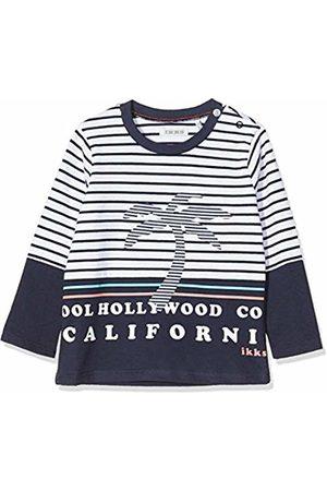 IKKS Baby Girls' Tee-Shirt Marinière Homard Long-Sleeved Top