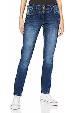 Cecil Women's 372783 Scarlett Loose Fit Straight Jeans
