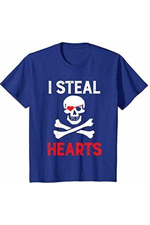Youth Horror Broken Skull Casual T-Shirt Short Sleeve for Kids