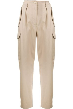 Alberta Ferretti High-waisted cargo trousers - Neutrals
