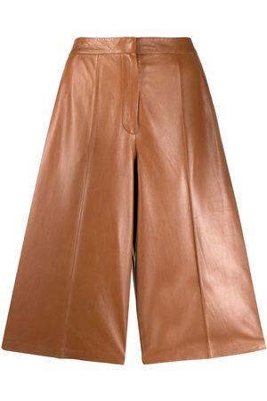 DESA 1972 High-rise leather culottes - Neutrals