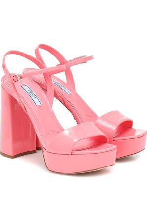 Prada Patent leather platform sandals