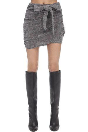 For Love & Lemons Auguste Sparkle Knit Mini Skirt
