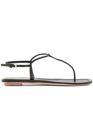 Prada Women Sandals - Toe-post Patent-leather Sandals - Womens
