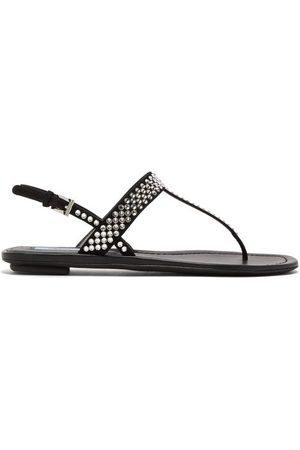 Prada -embellished Suede Sandals - Womens