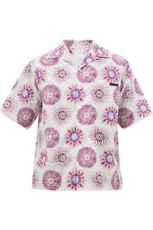 Prada Tie Dye-print Cotton Shirt - Mens