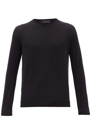 Prada Long-sleeve Virgin-wool T-shirt - Mens