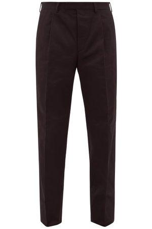 Prada Cotton-twill Chino Trousers - Mens
