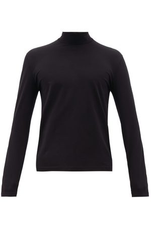 Prada Stand-collar Cotton-blend Top - Mens